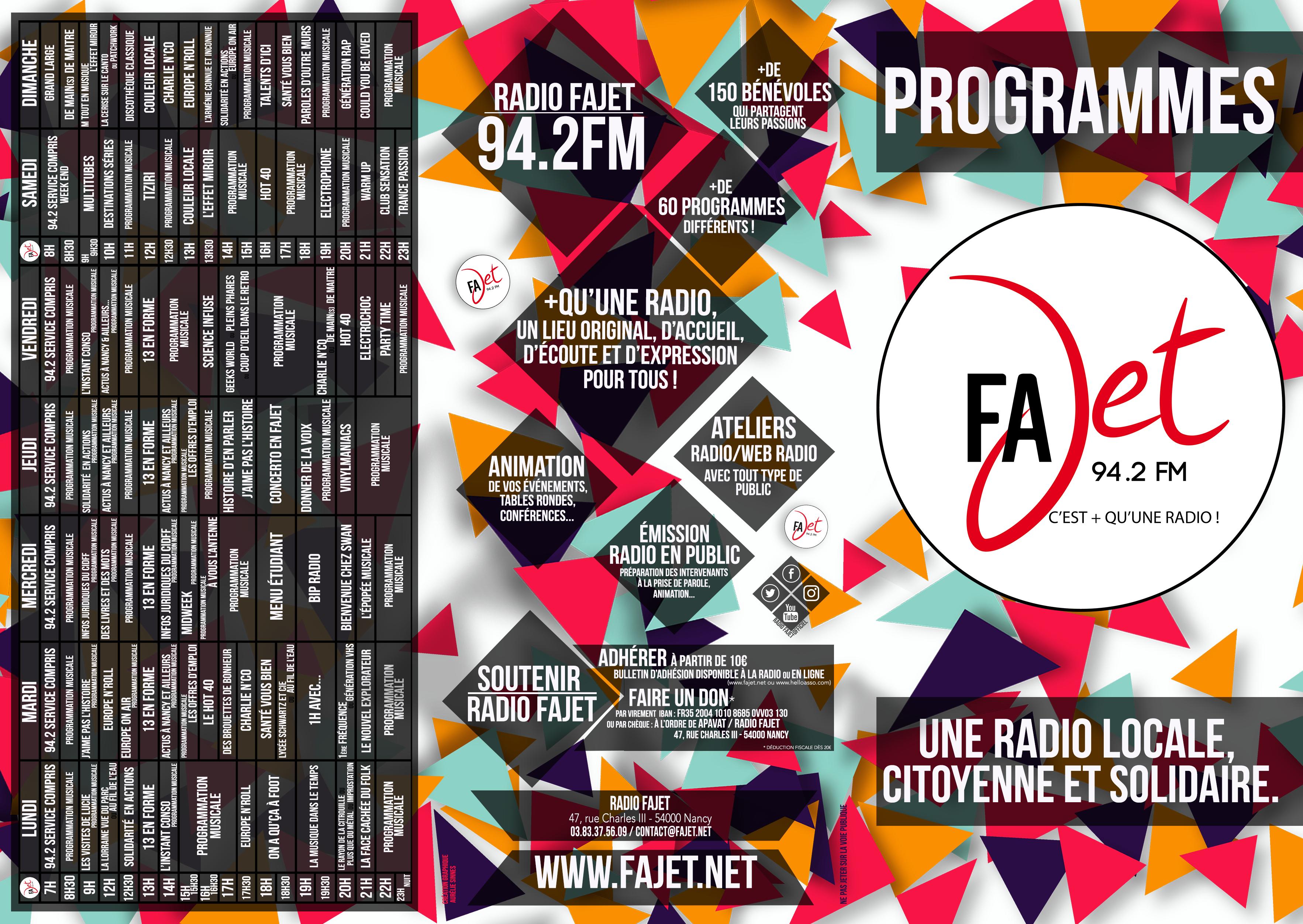 Programmes Fajet 2019